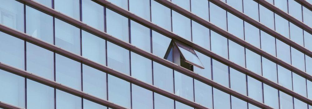 Open window in skyscraper.